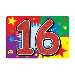 16TH Glitter Sign
