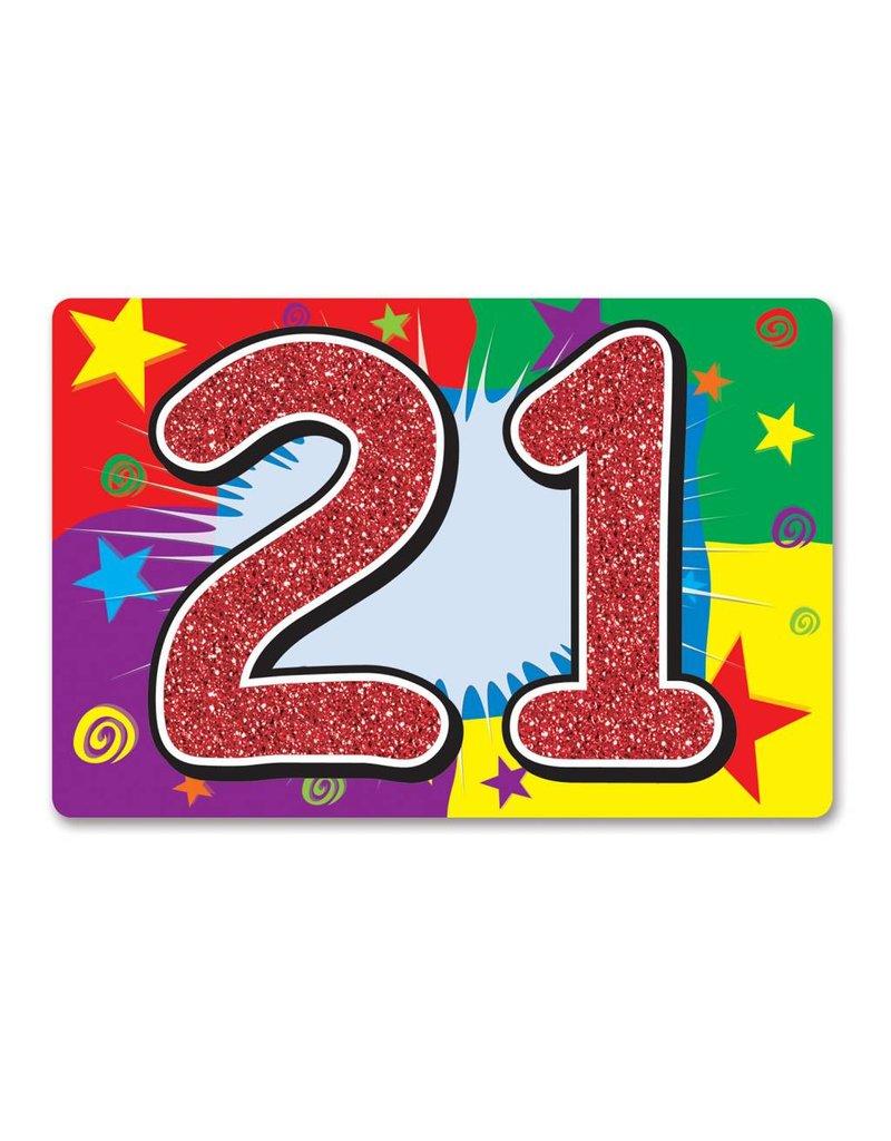 21ST Glitter Sign