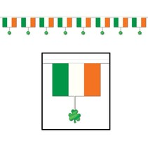 Flags & Shamrocks Banner-12'