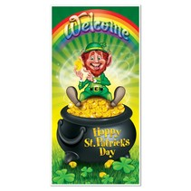 "Leprechaun Door Cover-30"" x 5'"