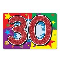 30TH Glitter Sign