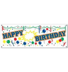 Blank Happy Birthday Banner