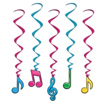 Musical Note Whirls- Neon