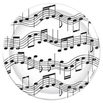 Music Note Plates - 9""