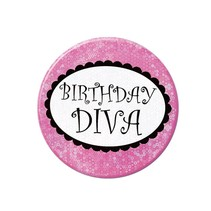 Diva Birthday Button