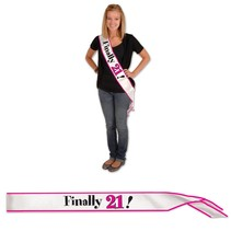Finally 21 Sash-One Size Fits Most