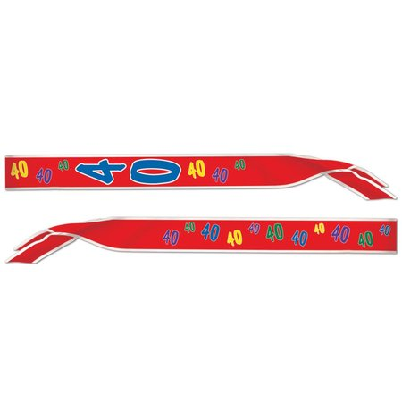 40th Birthday Sash-One Size Fits Most