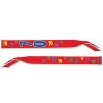 70th Birthday Sash-One Size Fits Most
