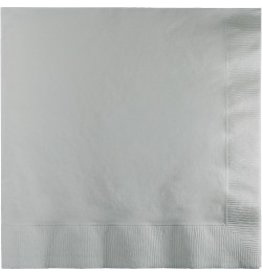 Luncheon Napkins Shimmering Silver