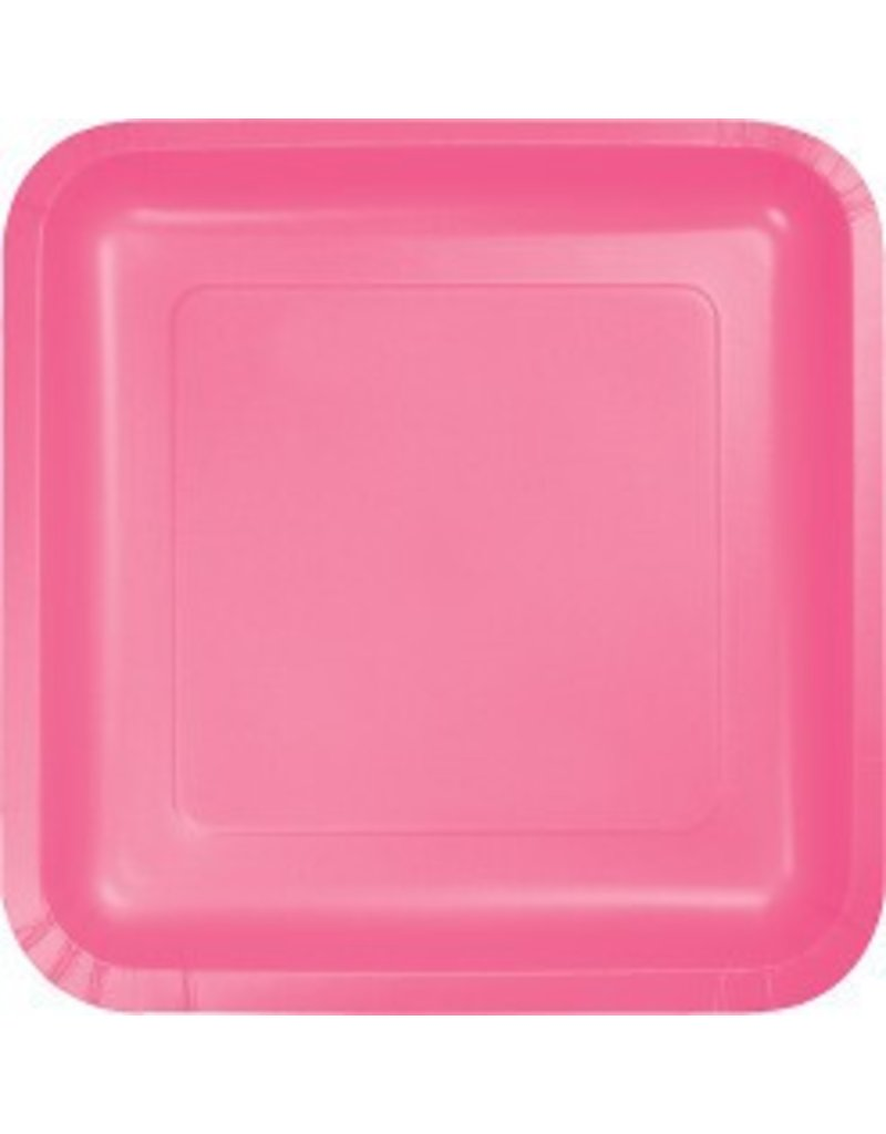 "9"" Square Plate Candy Pink"