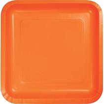 """9"""" Square Plate Sunkissed Orange"""