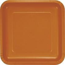"9"" Square Plate Pumpkin Spice"