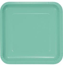 "9"" Square Plate Fresh Mint"
