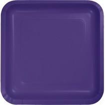 """9"""" Square Plate Purple"""