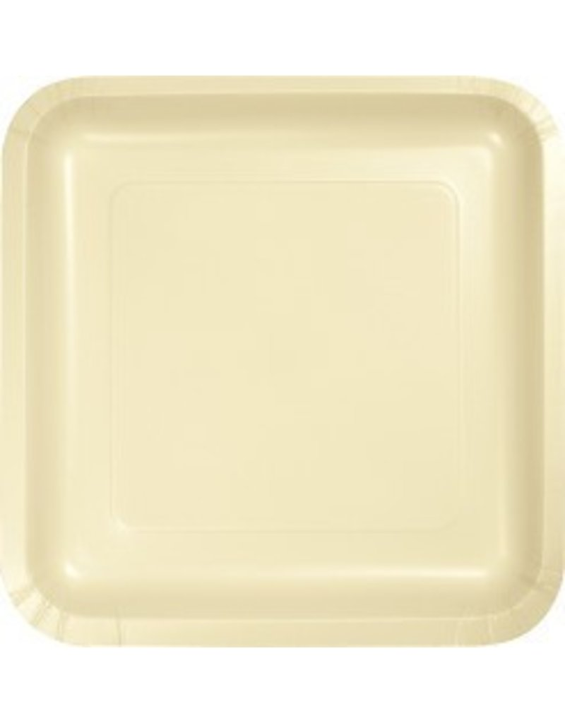 "9"" Square Plate Ivory"