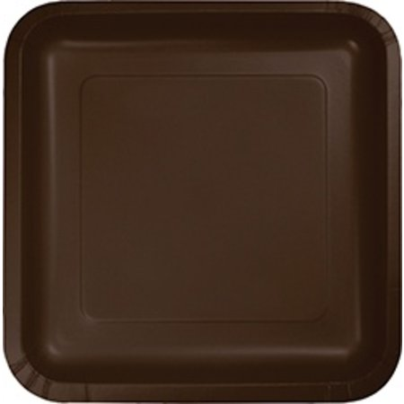 9  Square Plate Chocolate Brown & 9