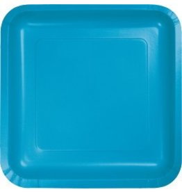 """9"""" Square Plate Turquoise"""