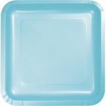 "9"" Square Plate Pastel Blue"