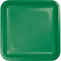 "9"" Square Plate Emerald Green"