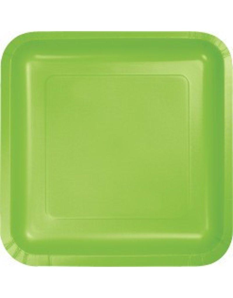 "9"" Square Plate Fresh Lime"