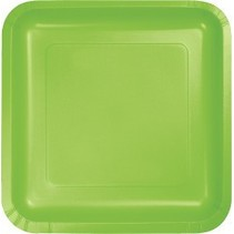 "7"" Square Plates Fresh Lime"