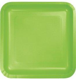 "7"" Square Plates Fresh Lime"