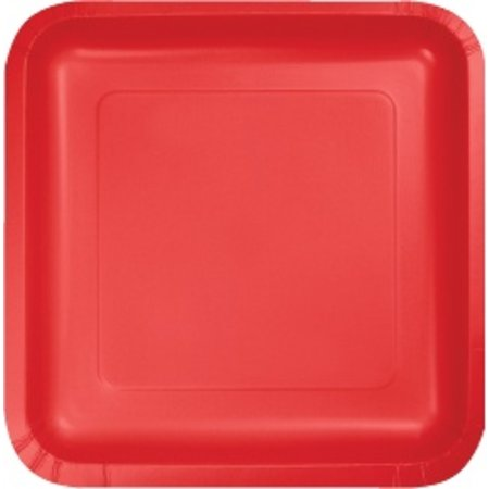 """7"""" Square Plates Classic Red"""