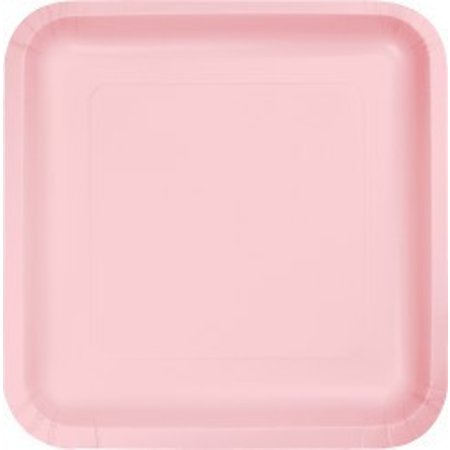 """7"""" Square Plates Classic Pink"""