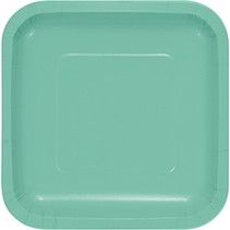 "7"" Square Plates Fresh Mint"