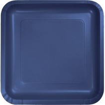 "7"" Square Plates Navy Blue"
