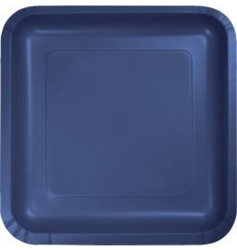 "7"" Square Plates Navy Blue"