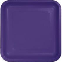 "7"" Square Plates Purple"