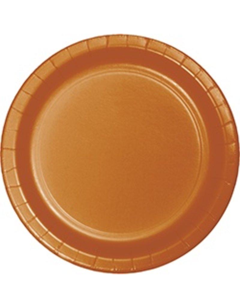 """9"""" Round Plates Pumpkin Spice"""