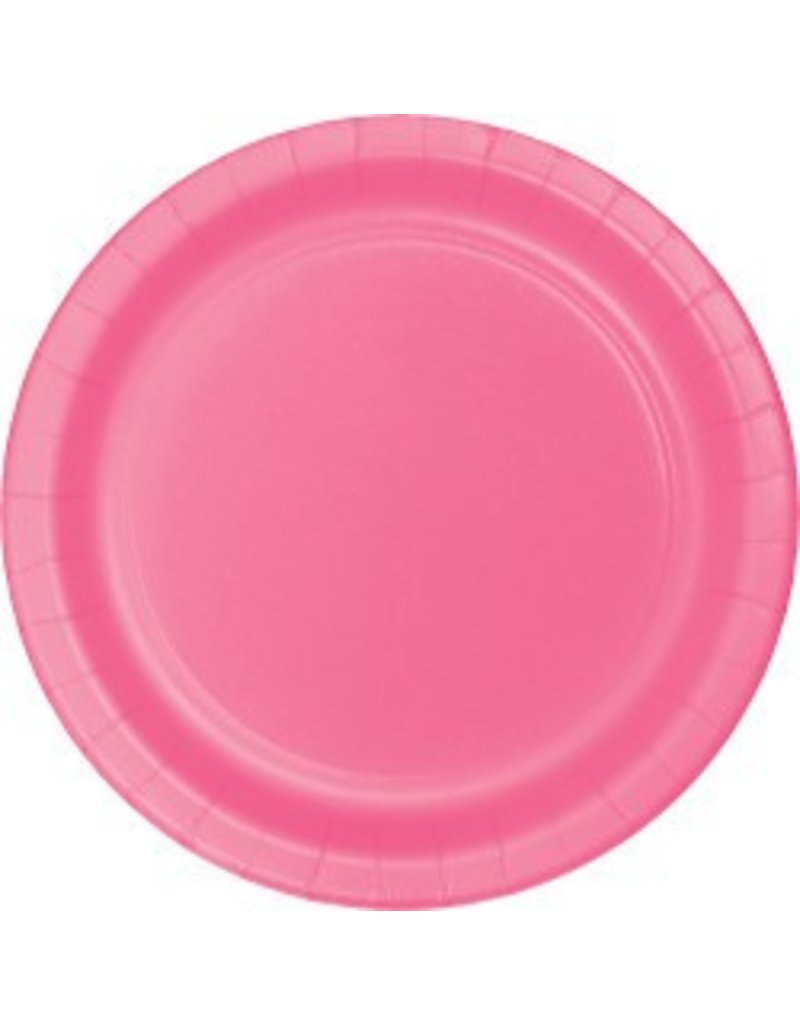 "9"" Round Plates Candy Pink"