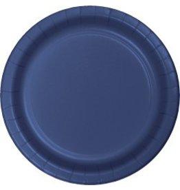 """9"""" Round Plates Navy Blue"""