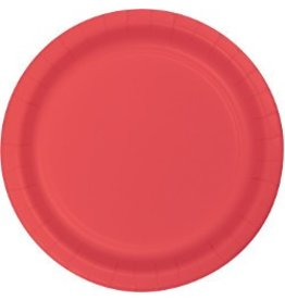 """9"""" Round Plates Coral"""