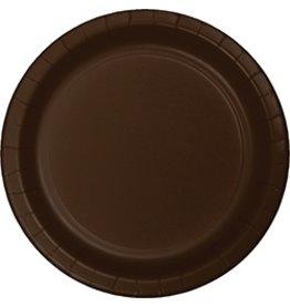 "9"" Round Plates Chocolate Brown"