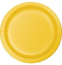 "9"" Round Plates School Bus Yellow"