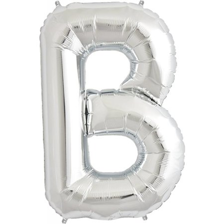 "34"" Silver Foil B Balloon"