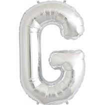 "34"" Silver Foil G Balloon"