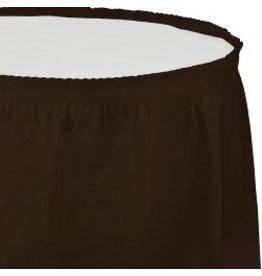 Table Skirt Plastic Chocolate Brown
