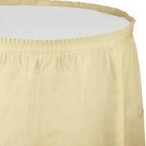 Table Skirt Plastic Ivory