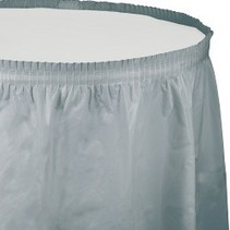 Table Skirt Plastic Shimmering Silver