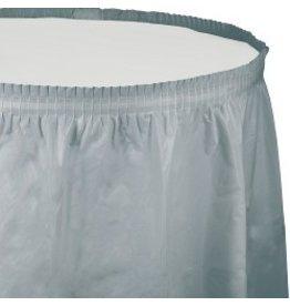 Table Skirt Plastic Shimmering Silver