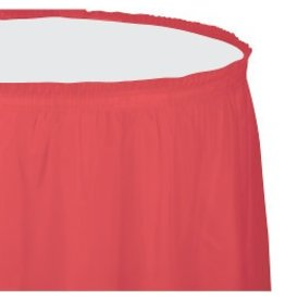 Table Skirt Plastic Coral