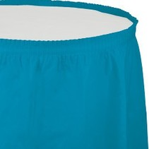 Table Skirt Plastic Turquoise