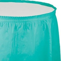 Table Skirt Plastic Teal Lagoon