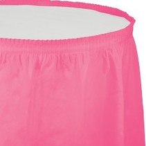 Table Skirt Plastic Candy Pink