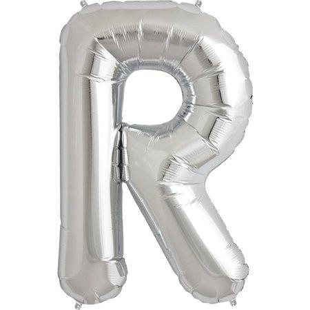 """34"""" Silver Foil R Balloon"""