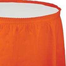 Table Skirt Plastic Sunkissed Orange
